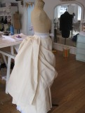 bustle apron and drape
