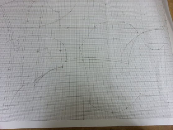 exploded bodice pattern