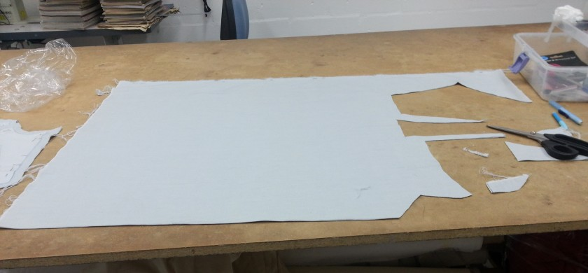 cutting out in linen