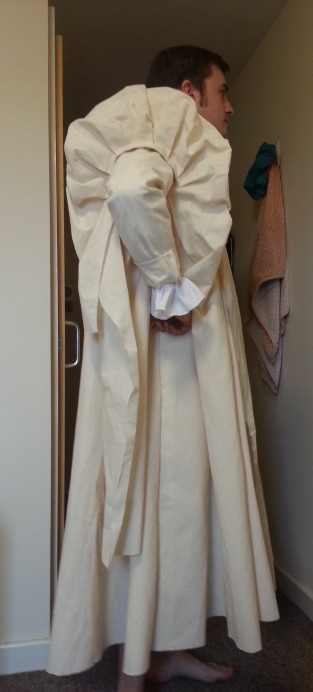 gown side view