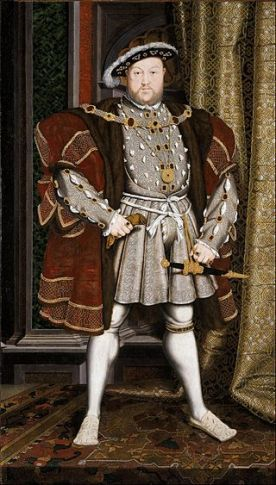 Henry VIII, 1536. Painting by Hans Holbein the Younger