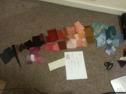 sorting swatches