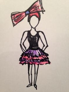 Sketch & costume design by Erin Maddocks